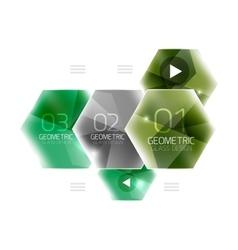 Colorful hexagon web box vector