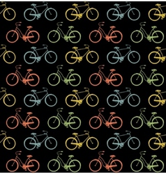 Bicycles seamless vector image