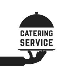 Black catering service emblem vector