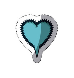 Blue sticker heart shape callout scream for vector