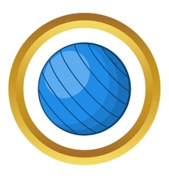 Blue volleyball ball icon vector