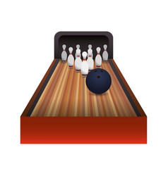 bowling sport game vector image vector image