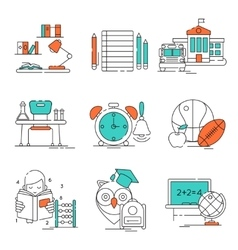 Conceptual Basic Education Icon Set vector image vector image