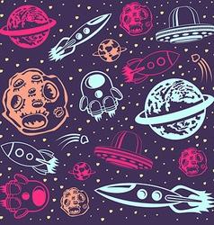 Cosmic Seamless Pattern vector image
