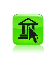cursor button icon vector image vector image
