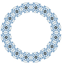 Decorative circle frame vector