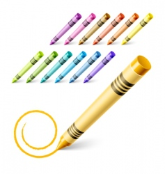 drawing crayons vector image