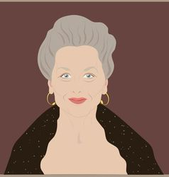 elderly woman vector image vector image