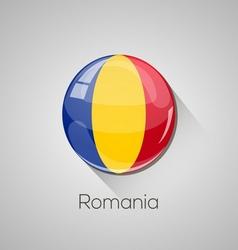 European flags set - romania vector