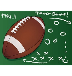 Football touchdown vector