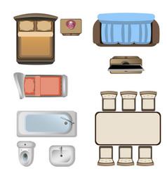furniture design elements top view vector image vector image