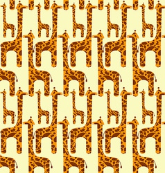 Giraffe Seamless Pattern vector image vector image