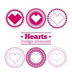 hearts design elements vector image vector image