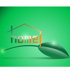 home 1 vector image vector image