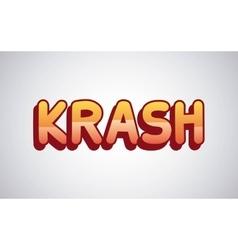 krash comic pop art style vector image