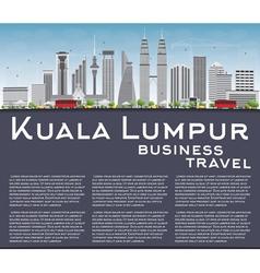 Kuala Lumpur Skyline with Gray Buildings vector image