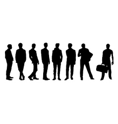 men silhouettes vector image