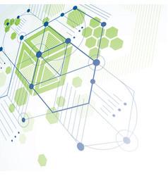 Modular bauhaus 3d green background created from vector