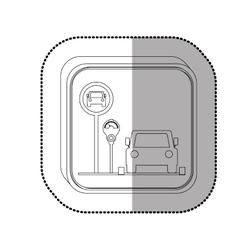 Parking meter system vector