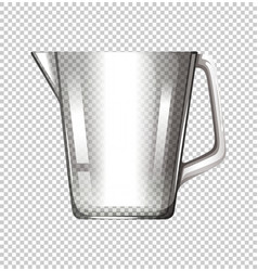 Plastic beaker on transparent background vector
