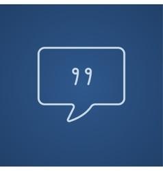 Speech bubble line icon vector image