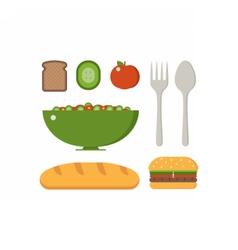 Vegan Breakfast Set vector image vector image
