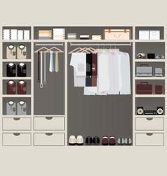 walk in closet12 vector image