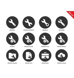 Wrench icons on white backgrouund vector