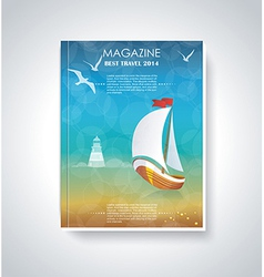 Your best travel magazine vector image
