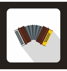 Oktoberfest accordion icon flat style vector image