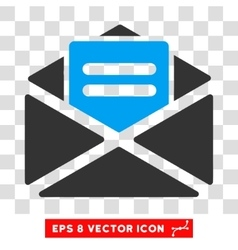 Open mail eps icon vector