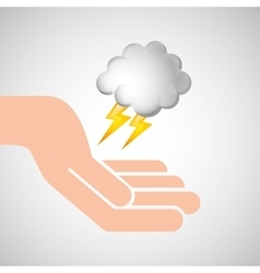 Weather concept forecast cloud lightning icon vector