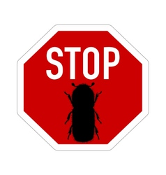 Bark-beetle stop sign vector