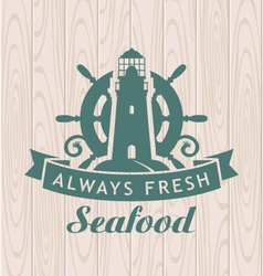 Seafood shop vector