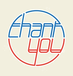 Lettering - Thank you vector image