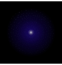 Deep space galaxy star shining dark violet vector