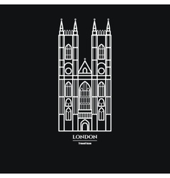 Westminster abbey icon 1 vector