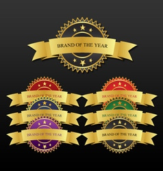 Badges colorful vector