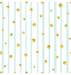 Seamless pattern with hand painted gold circles vector