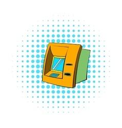 Atm icon comics style vector