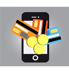 Mobile payments smartphone vector