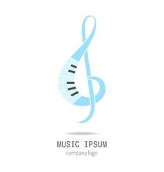 Treble clef Music icon logo vector image