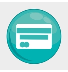 Credit card button icon social media design vector