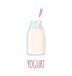 Yogurt icon on white background vector image