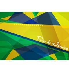 Abstract concept geometric Brazil background vector image vector image