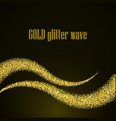 abstract gold dust glitter star wave background vector image vector image