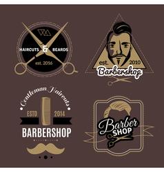 Barbershop Emblems Set vector image