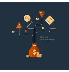 Business plan start up investment finance vector