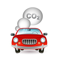 car pollution icon vector image vector image