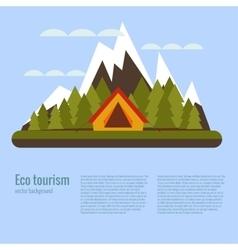 Cartoon eco tourism camping concept vector